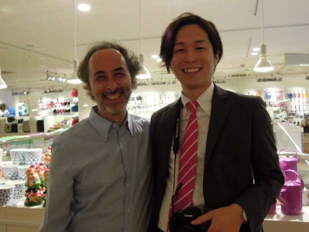 レナートさんと瀬川直矢の笑顔
