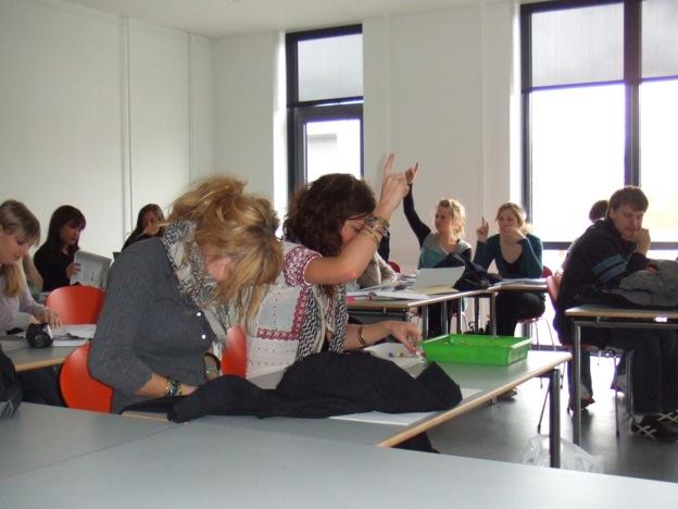 デンマークの高校の授業風景