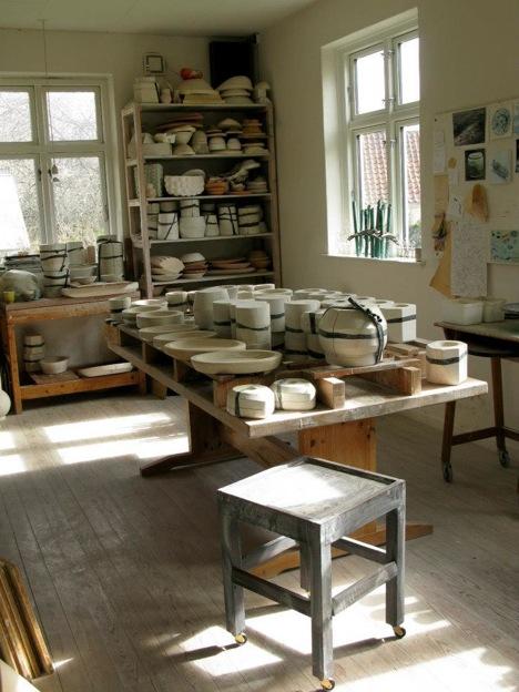 デンマークワーキングホリデー中に滞在した陶芸家ヘレさんの家