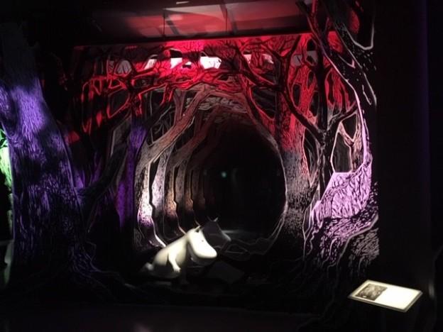 「コケムス」展示の階に着いた瞬間、目に入るムーミンの世界